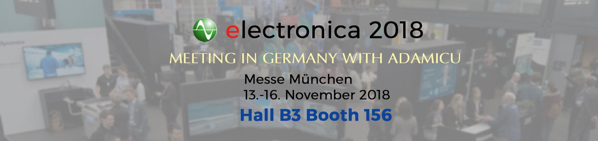 ADAMICU 2018 Germany Munich electronica